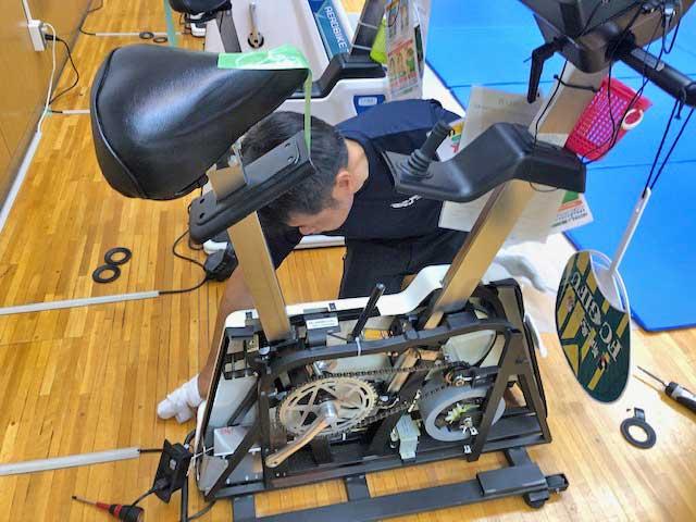 エアロバイク75XLⅢチェーン交換修理